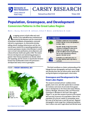 Population, Greenspace, and Development: Conversion Patterns in the Great Lakes Region