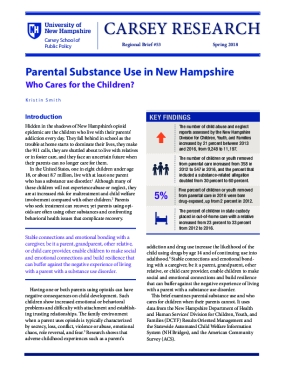 Parental Substance Use in New Hampshire: Who Cares for the Children?