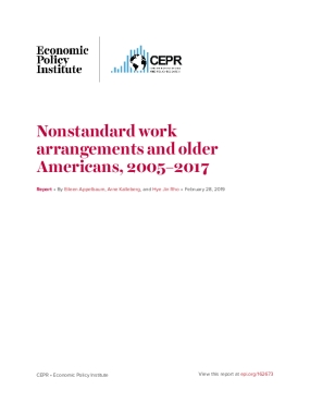 Nonstandard Work Arrangements and Older Americans, 2005–2017