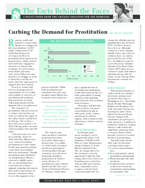 Curbing the Demand for Prostitution