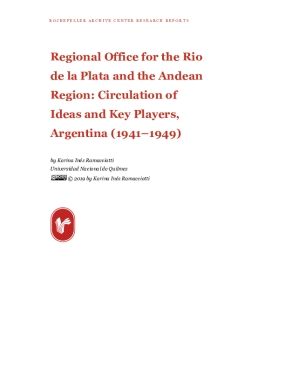 Regional Office for the Rio de la Plata and the Andean Region: Circulation of Ideas and Key Players, Argentina (1941–1949)