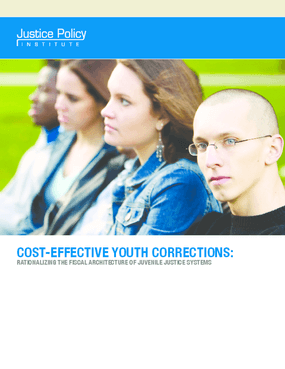 Cost-effective Youth Corrections: Rationalizing the Fiscal Architecture of Juvenile Justice Systems